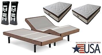 split king 155inch gel memory foam mattress with scape adjustable