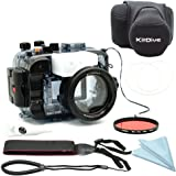 For Sony A6500 A6300 A6000 [ILCE-6500/6300/6000] 195FT/60M Underwater camera diving waterproof housing(Housing + Cover + Red Filter)