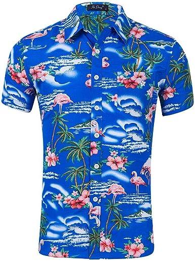 Coofandy Camisa Manga Corta Hombre Casual con Botones de Moda: Amazon.es: Ropa y accesorios