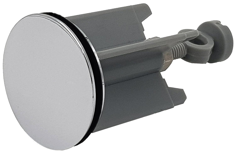 Color Plateado Tap/ón de desag/üe Universal para lavabos y bid/é 40 mm M/&H-24