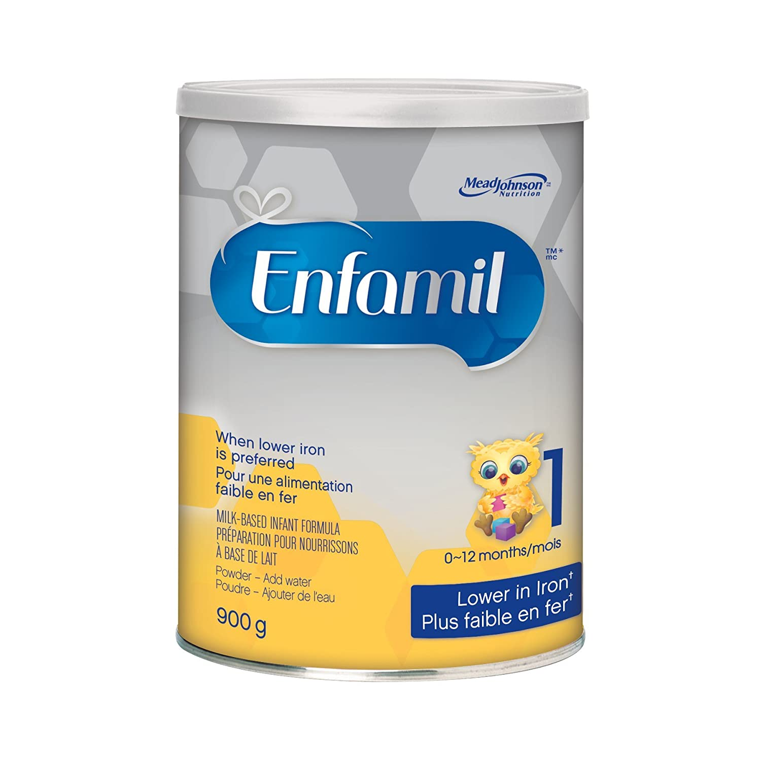 Enfamil Lower Iron Infant Formula, Powder, 900g