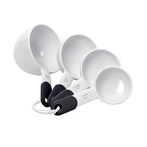 KitchenAid Plastic Measuring Cups, Set of 4, White