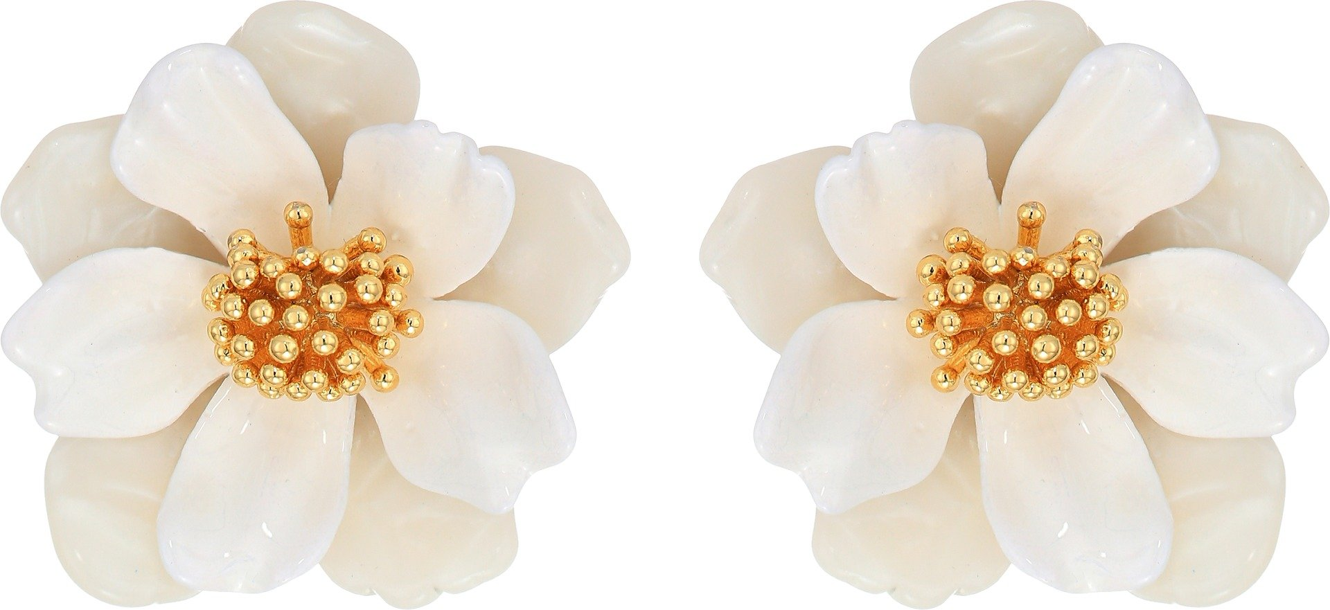 Kate Spade New York Women's Floral Mosaic Stud Earrings White Multi One Size