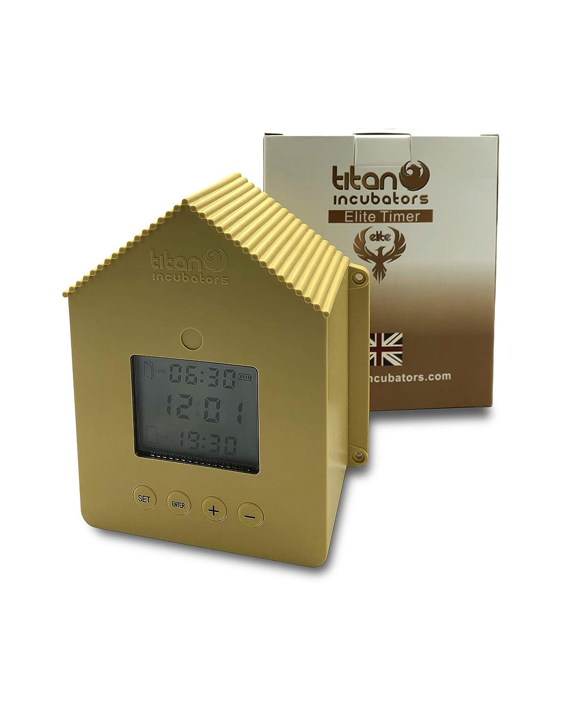 Titan Incubators Elite Abrepuertas autom/ático para gallinero con Temporizador
