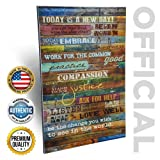Amazon Price History for:Inspirational Quotes Wall Art - Today Is a New Day By Marla Rae 12 x 18 (Earth Tones)