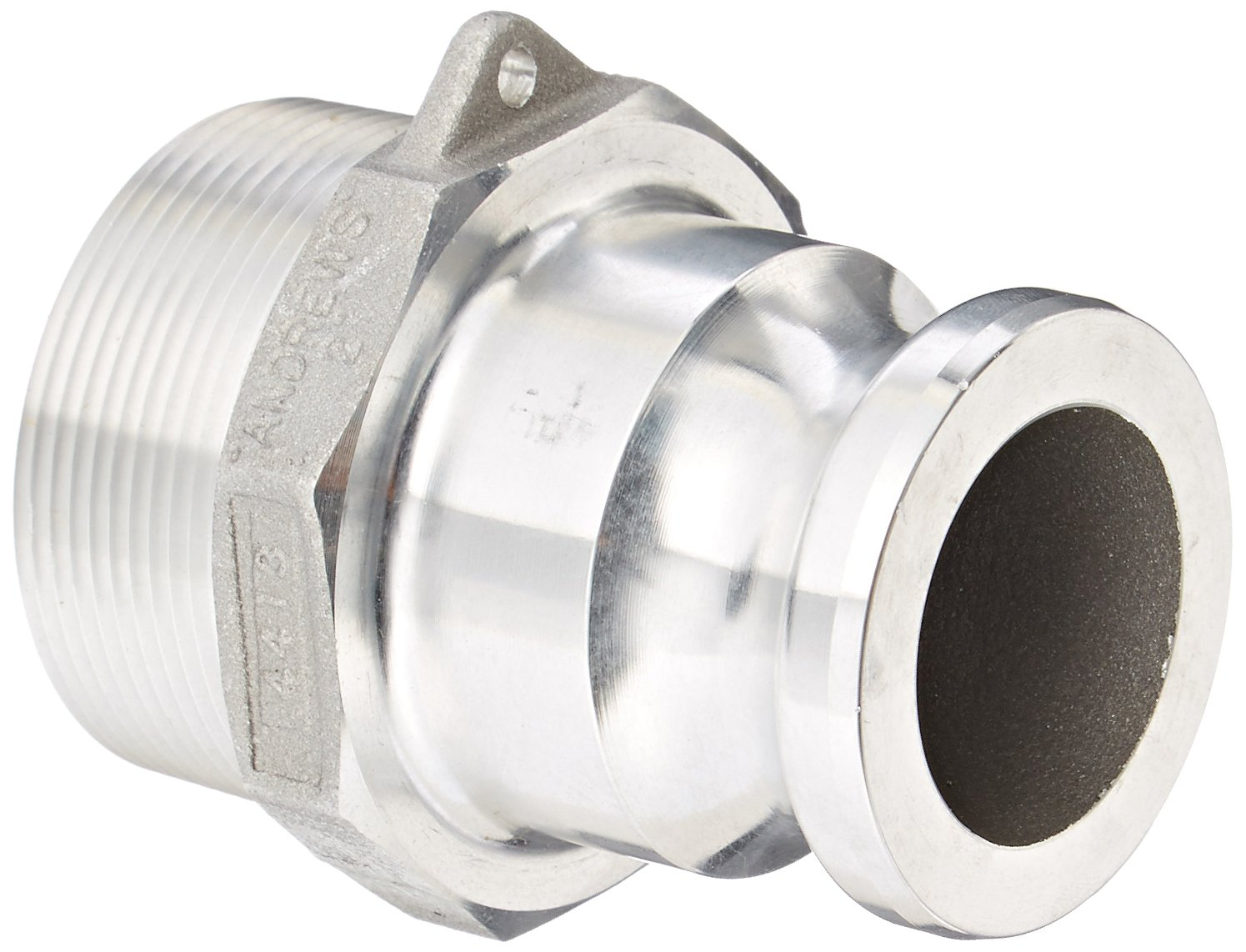 Dixon Valve 1520-F-AL Aluminum 356T6 Type F Cam and Groove Fitting, Reducing Coupling, 1-1/2'' Male Adapter x 2'' NPT Male