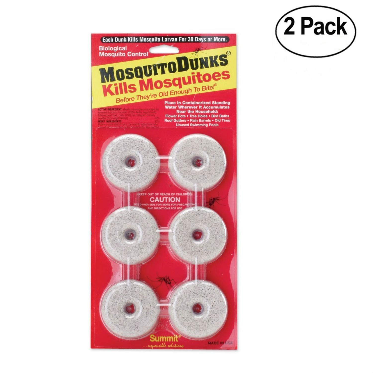 Summit...responsible solutions 110-12 Mosquito Dunks, 6 Piece - 2 Pack by Summit...responsible solutions