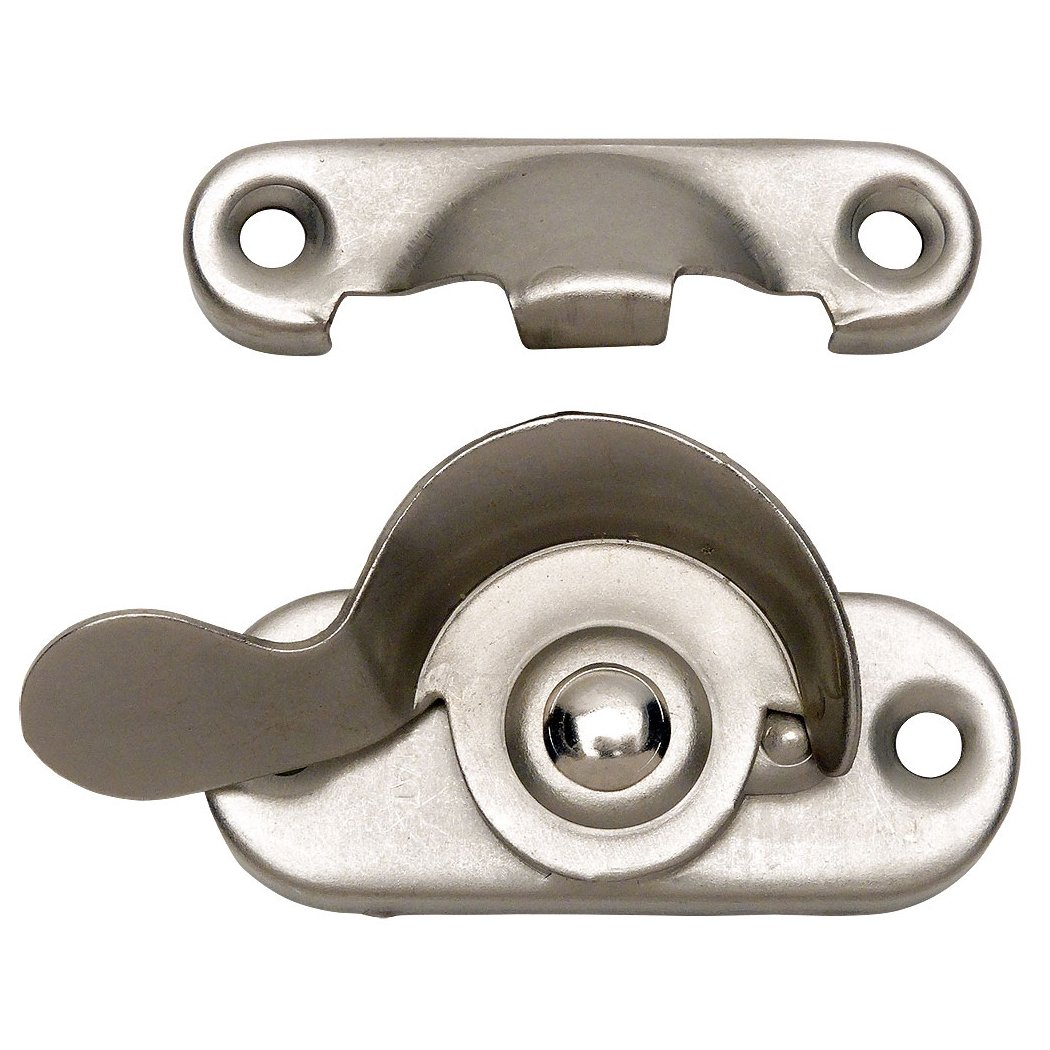 10 Pack - Designers Impressions 53713 Satin Nickel Window Sash Lock by Designers Impressions