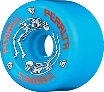 Amazon.com : Powell-Peralta G-Bones 97A Skateboard Wheels (Blue, 64mm) : Sports & Outdoors