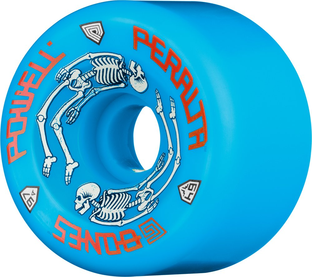 Ruedas De Skateboard Powell-peralta G-bones 97a (azul, 64 Mm)