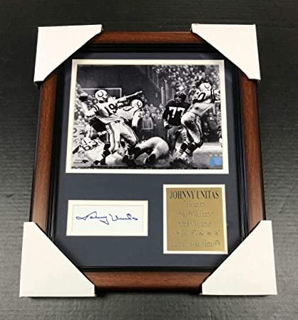 cb123e6baa3 Image Unavailable. Image not available for. Color  Autographed Johnny Unitas  ...