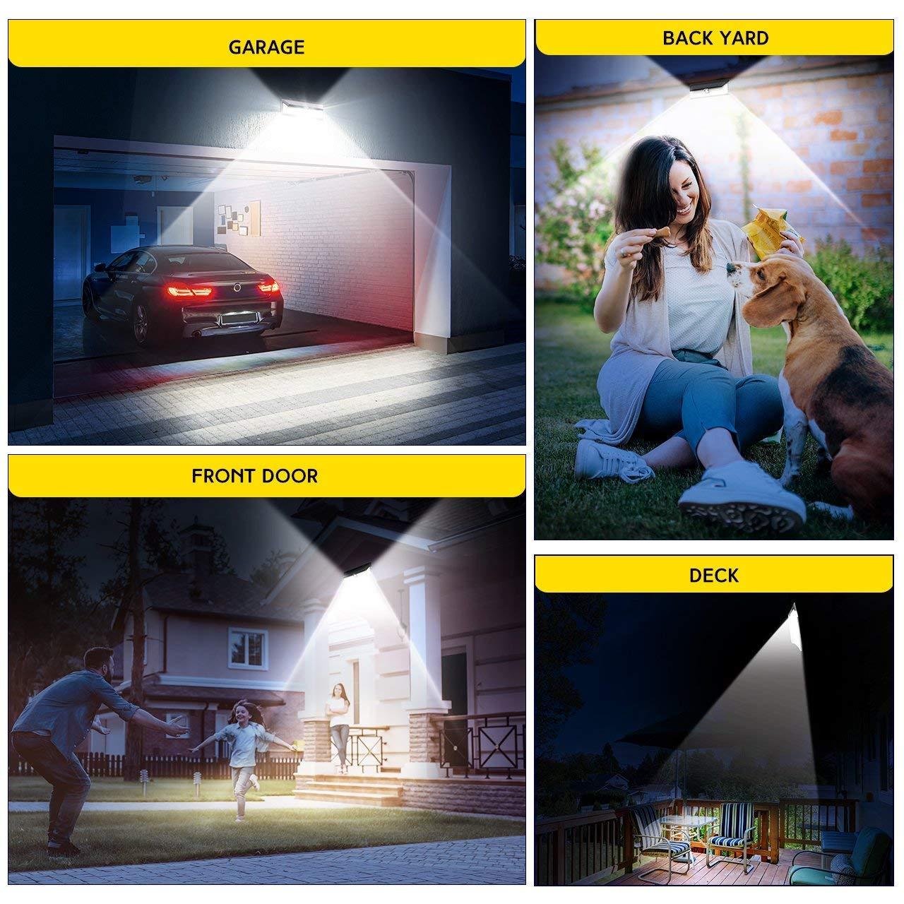 LITOM Solar Lights Outdoor 42 LED, Adjustable Lighting Time Solar Motion Sensor Light with 270° Wide Angle and Waterproof Design, Wireless Solar Lighting for Front Door, Yard, Garage, Deck (2 Pack) by Litom (Image #7)