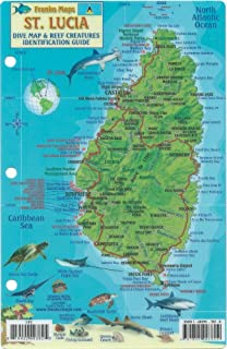 SaintLucia Road Map Gizi 1 50 000 English and French Edition