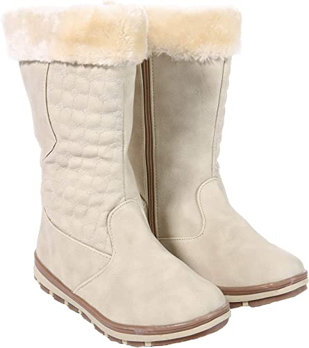 Girls Winter Boots Faux Fur Lined