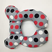 Baby Travel Pillow, Infant Head and Neck Support Pillow for Car Seat, Pushchair, for 0-1 Years Old Baby (Color Circle)