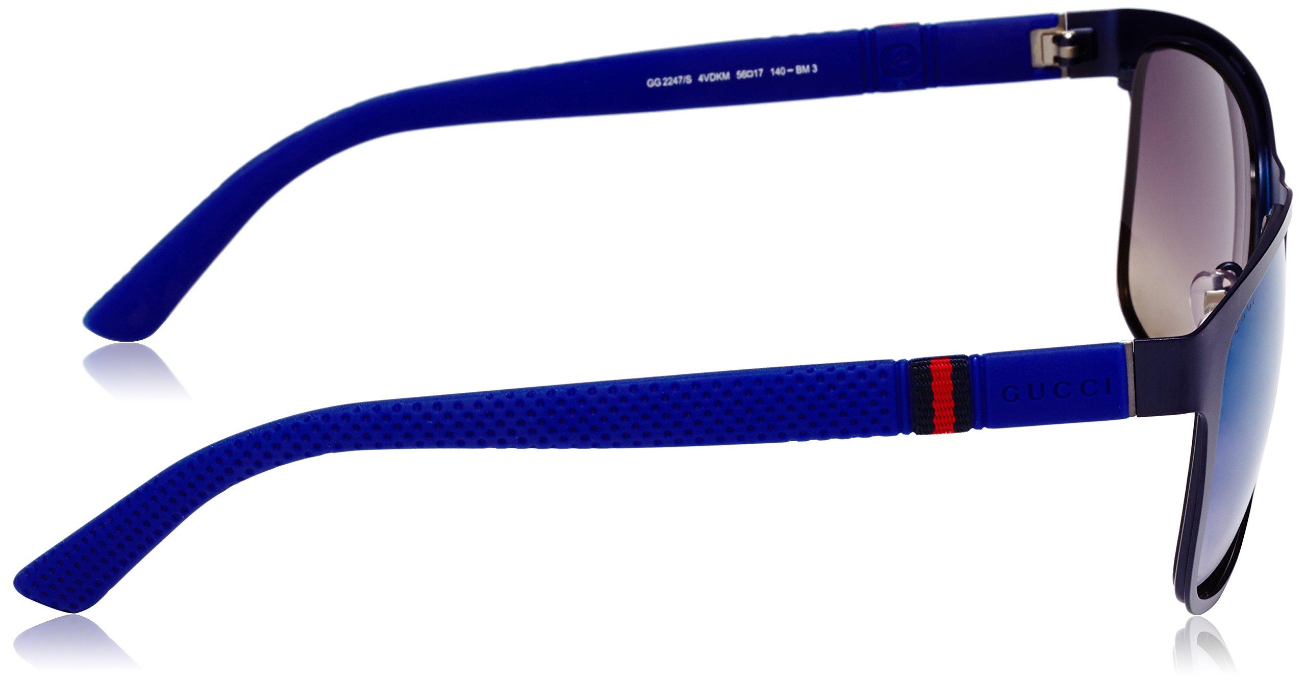 Gucci Men's Square Sunglasses, Matte Blue/Grey Multi, One Size by Gucci (Image #3)