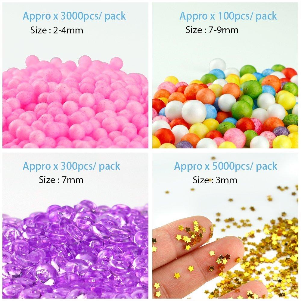 Colorido perlas de Pecera para crujientes Slime, perlas de plástico florero Filler, 5 colores 12,5 oz 6 - 7 mm perlas de plástico pecera Slime: Amazon.es: ...