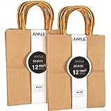 Brown Kraft Bag, Birthday Party Gift Favor Bag Set - 24 Count - Medium