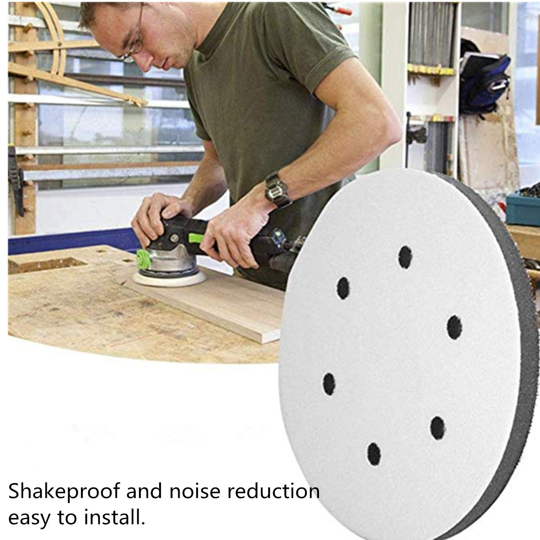 PPX Schleifen Soft Pad 6 Holes 150mm Durchmesser Soft Buffer Schwamm Interface Kissen Pad f/ür Schleifpads/