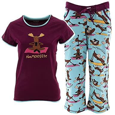 Lazy One Na-moose-te Capri Pajama Set for Juniors XS