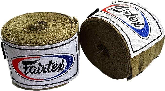 New Fairtex Elastic Cotton Handwraps HW2 Hand Wraps Color Black Bleach Blue R..