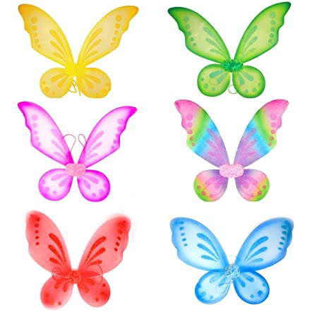 Butterfly Fairy Wings Dress Up Wings Birthday Party Favor Accessory Girls Butterfly Costume Fairy Halloween Costume  sc 1 st  Amazon.com & Amazon.com: Butterfly Fairy Wings Dress Up Wings Birthday Party ...