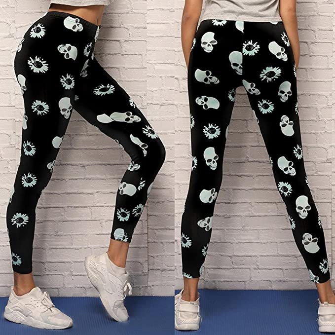 Women Dot Trousers Workout Fitness Gym Running Yoga Athletic Pants OOEOO Leggings