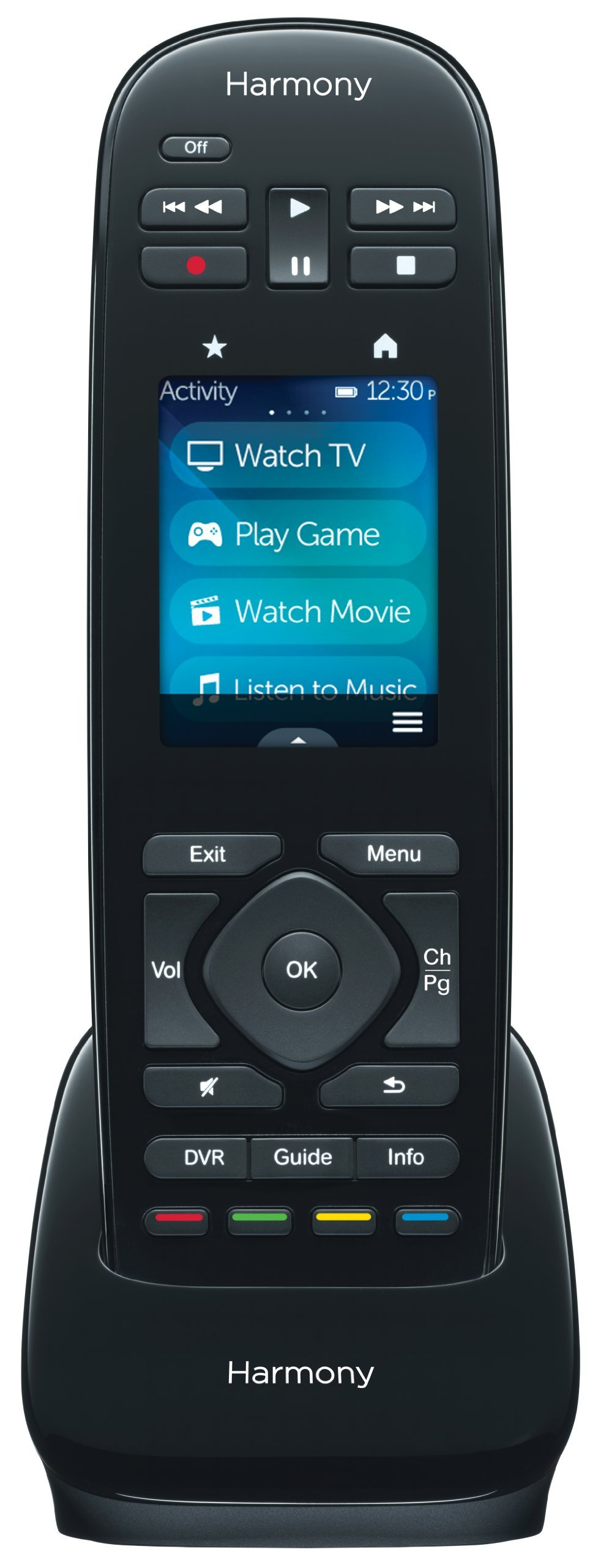 Logitech 915-000224  Harmony Ultimate One 15-Device Universal Infrared Remote with Customizable Touch Screen Control - Black