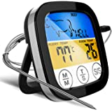 Digital Touchscreen Food Thermometer for Meat Poultry Fish Cooking in Frying Pan Smoker Oven BBQ Grill with Sensitive…