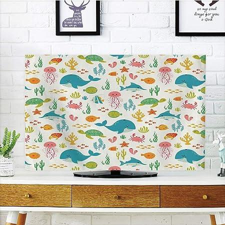 Cubierta de polvo para televisor LCD, dibujos animados, personajes de Surf Sun con tonos y tablas