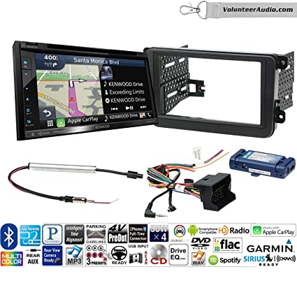 Kenwood DNX574S Double Din Radio Install Kit with GPS Navigation Apple CarPlay Android Auto Fits 2012