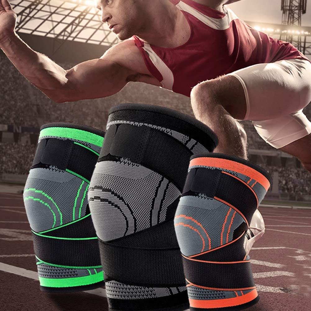 Rodilleras Rodilleras 3D para Hombre y Mujer Tenis protección Profesional Ciclismo Estampado de Ondas Techwills Baloncesto Senderismo para Correr montañismo Rodillas
