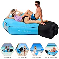 Camping Blow Up /& Light Up Air Chair /& Couch for Lounging Rukket Sports Glow-Nana Inflatable Lounger Sofa Hammock for Adults /& Kids LED Portable Wind Furniture Loungers Festival Beach