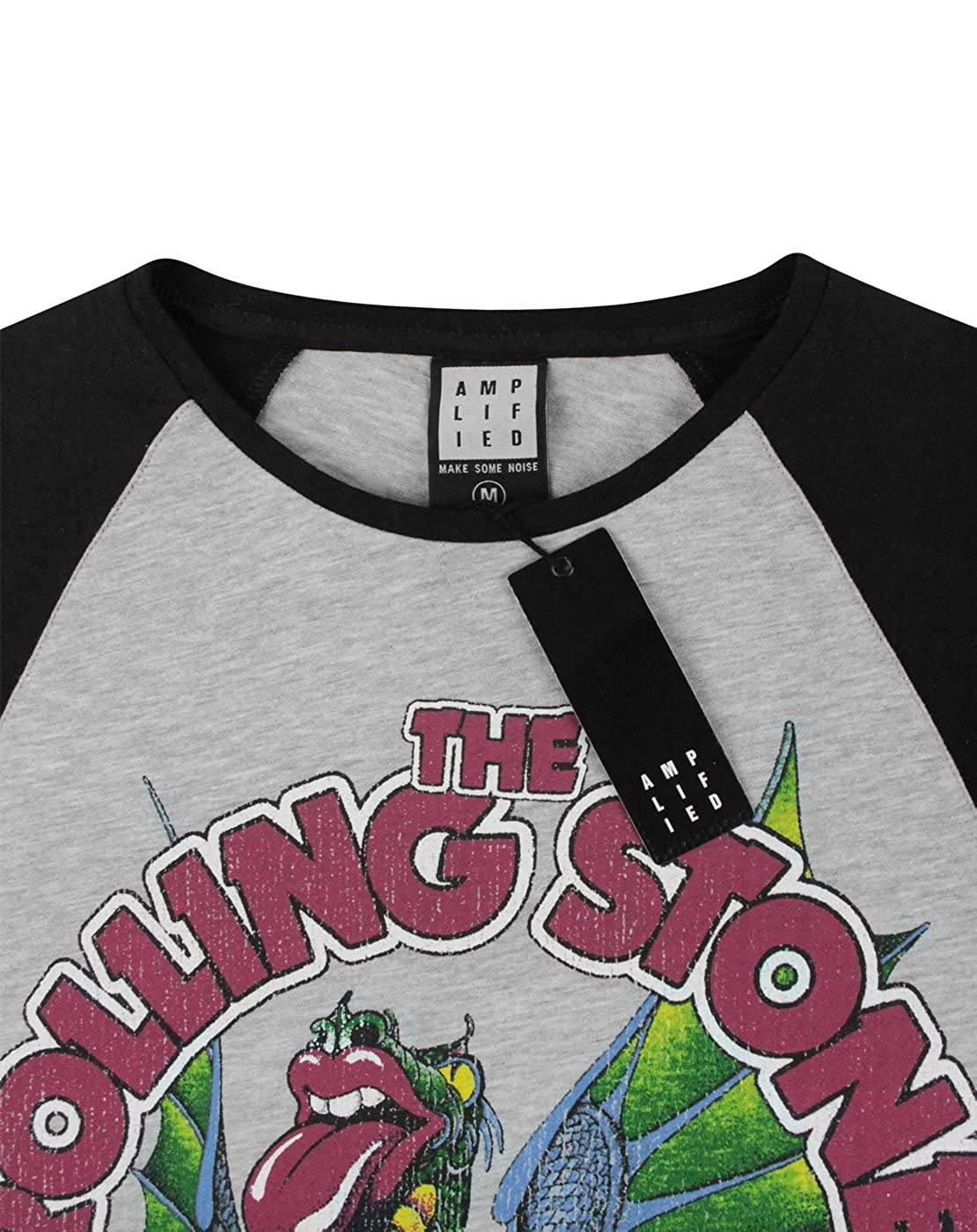 c0ccdf61 Amazon.com: Amplified Rolling Stones Dragon Men's Baseball T-Shirt (XXL):  Clothing