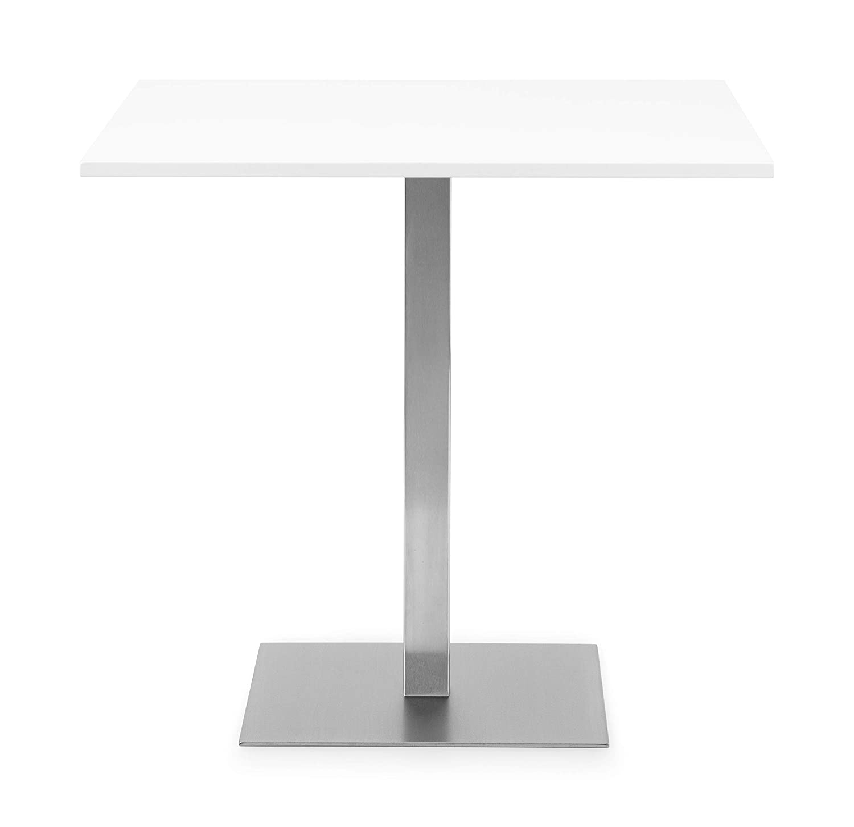 Julian Bowen PISA SQUARE PEDESTAL TABLE WHITE One Size
