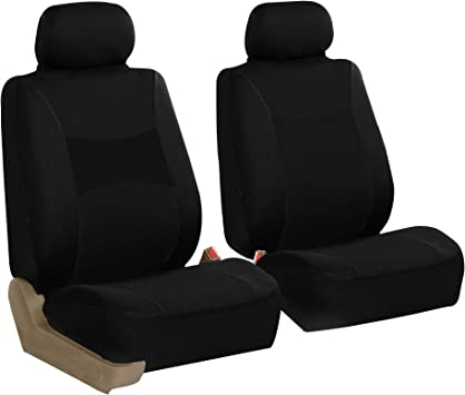 FH GROUP FH-FB060102 Trendy Elegance Pair Bucket Seat Covers, SUV Blue//Black Color-Fit Most Car Truck or Van Airbag Compatible