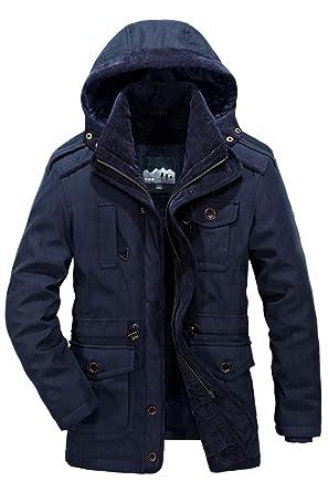 8e51233be Amazon.com: Mr.Stream Men's Winter 3-in-1 Hooded Jacket Windproof ...