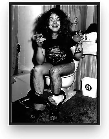 Mile High Media Ozzy Osbourne Poster Print Black Sabbath Toilet No Frame