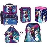 d8ed33246e45a Disney Frozen Eiskönigin Schulranzen Tornister Schulrucksack Schultasche Set  5 Teilig Inkl. Sticker Von Kids4shop