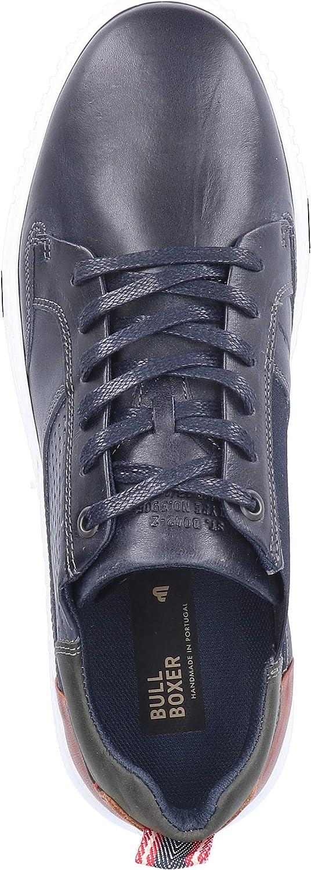 Bullboxer Homme Chaussures à Lacets 845K20033, Monsieur Baskets,Sportives Bleu