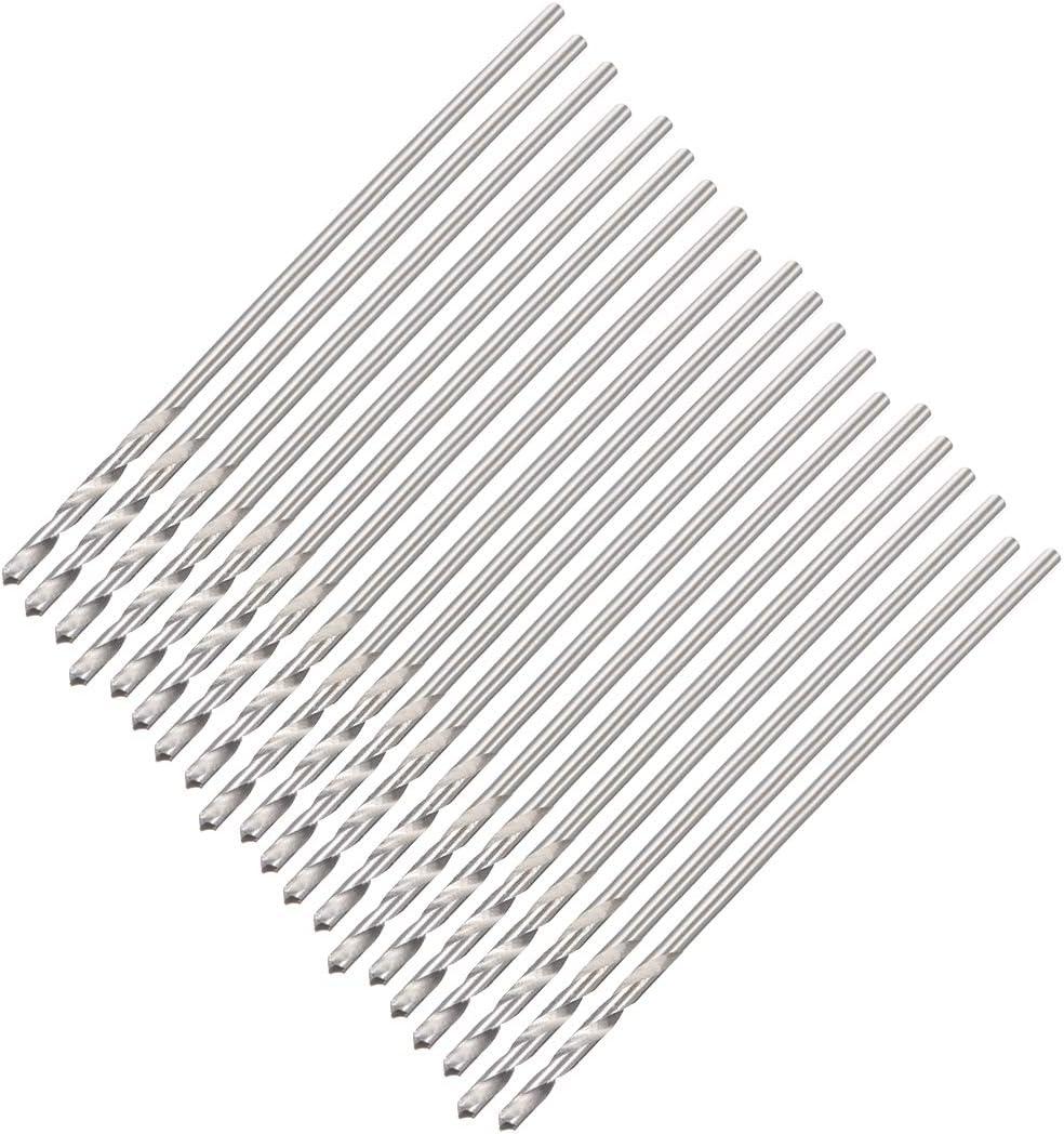uxcell 0.8mm Twist Drill High Speed Steel Bit HSS M35 5/% Co for Steel,Copper,Aluminum Alloy 20pcs