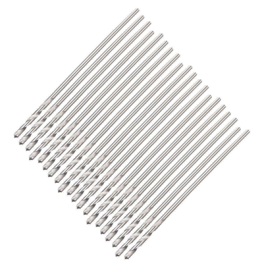 uxcell 0.7mm Twist Drill High Speed Steel Bit HSS M35 5/% Co for Steel,Copper,Aluminum Alloy 20pcs