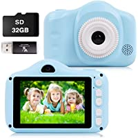 Kids Camera, 12MP Digital Camera for Kids Gifts, 3.5 Inch Large Screen 1080P Digital Video Camera for Kids with 32GB SD…