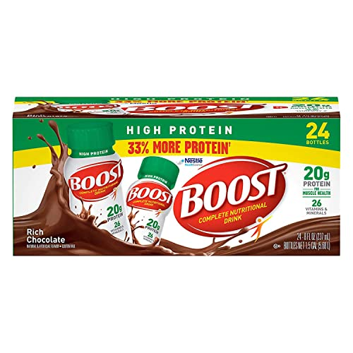 A Product of BOOST High Protein Drink, Chocolate 24 pk.
