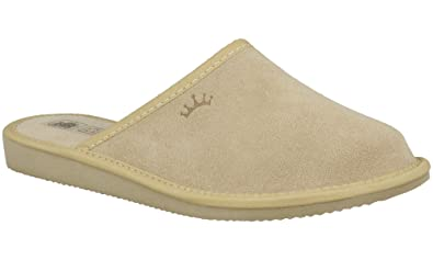 RBJ Mujer's Luxury Leather Slippers Rubber With Wool Lining and Rubber Slippers Sole eb0790