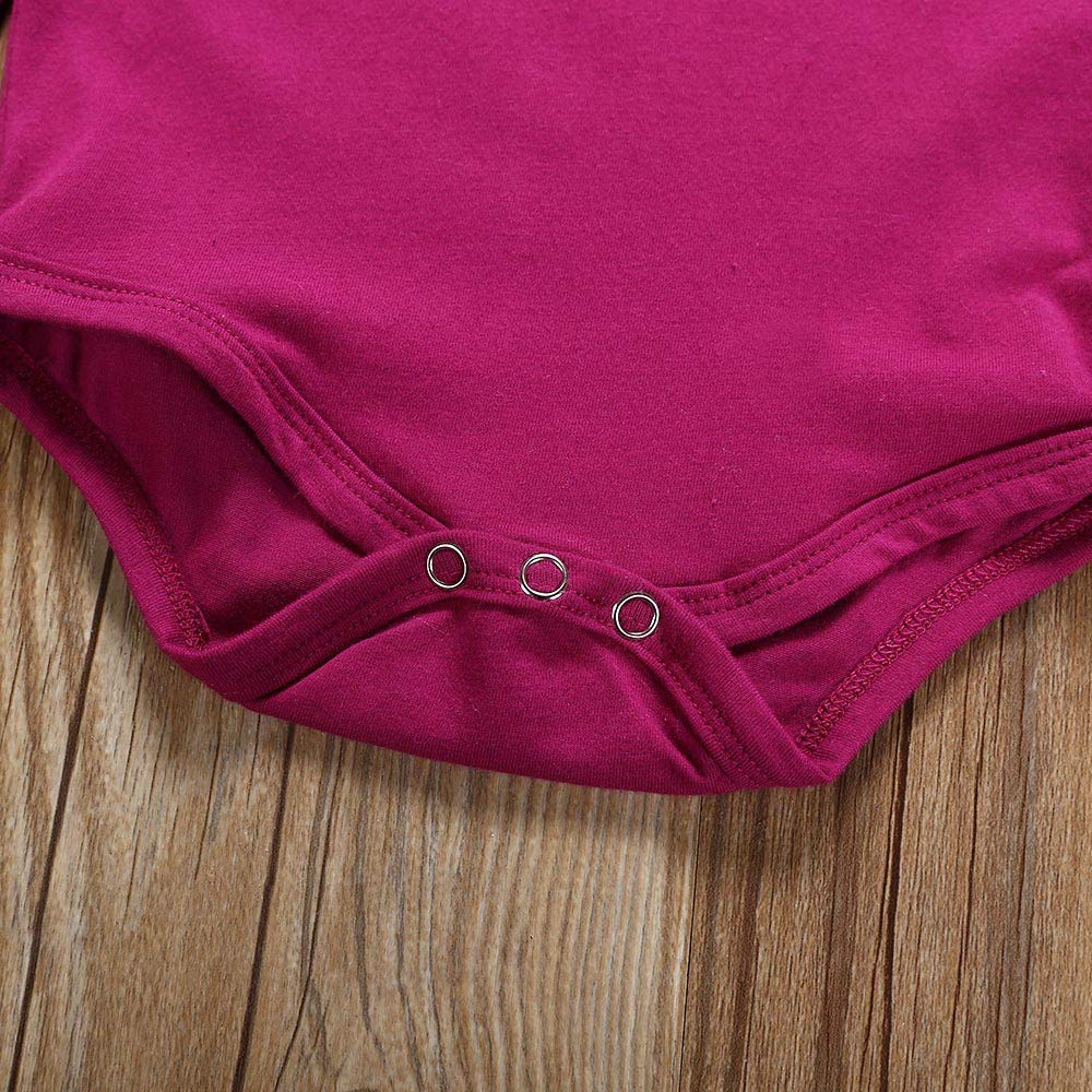 Amazon.com: Winsummer Newborn Baby Girl 3pcs Clothes Set Long Sleeve ...