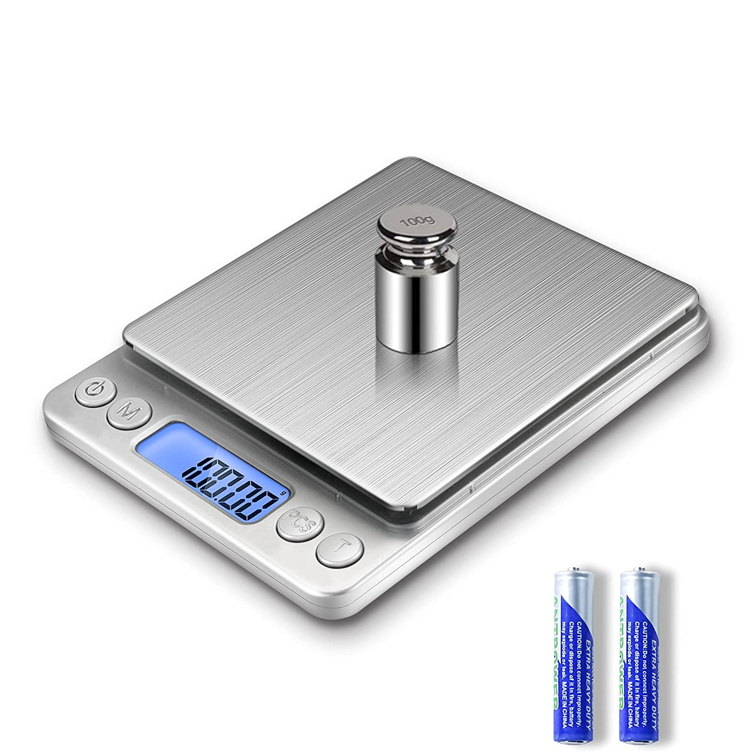 Food Scale Digital Kitchen Scale, MEIYA 500g/0.01g Gram Scales, Suitable for Jewelry, Baking, Soap Making, 9 Units, Tare Function, Automatic Calibration, LCD Display, Including Battery