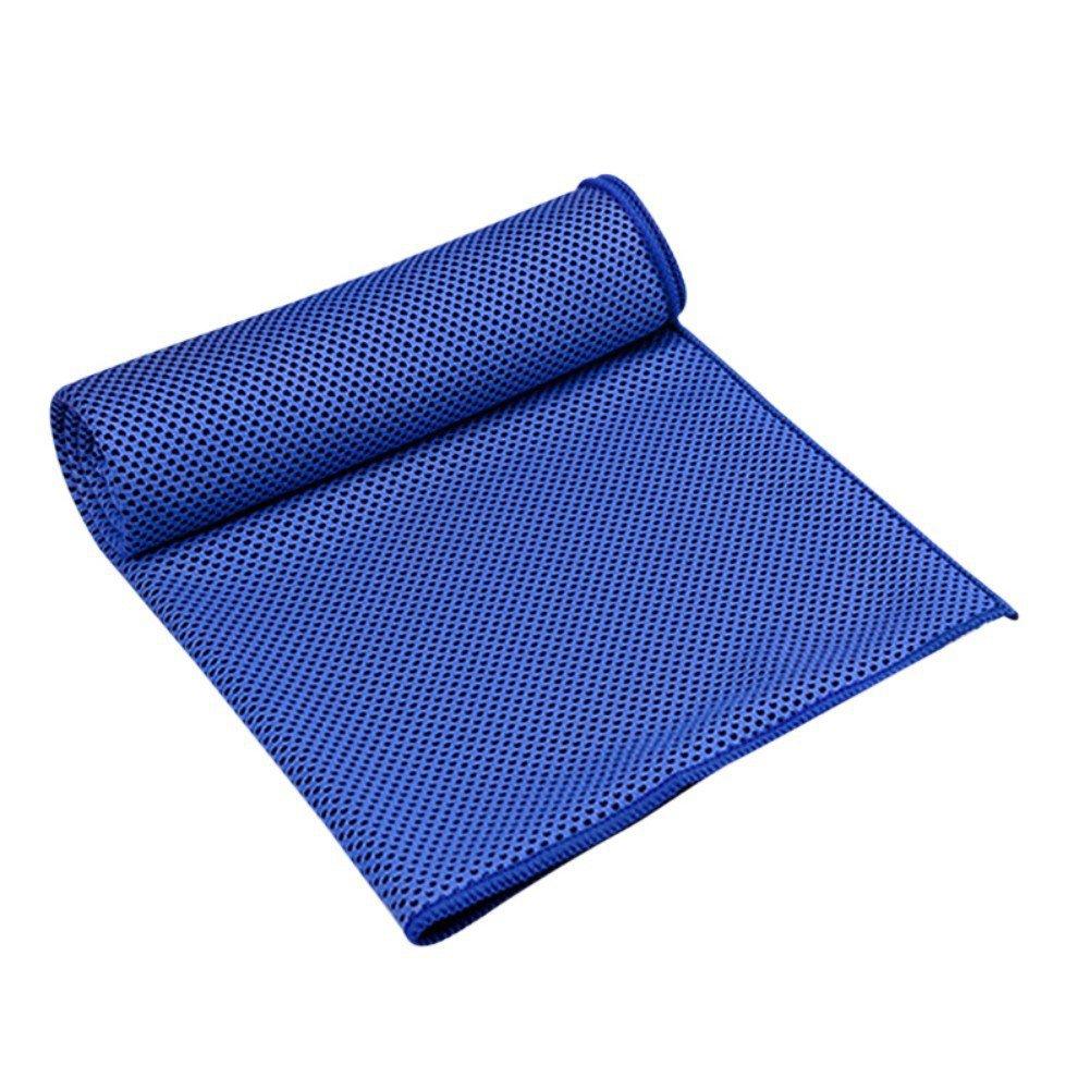 sunshay Hielo Toalla Ice Towel Sport vacaciones Outdoor Fitness Correr Actividades, azul marino: Amazon.es: Deportes y aire libre