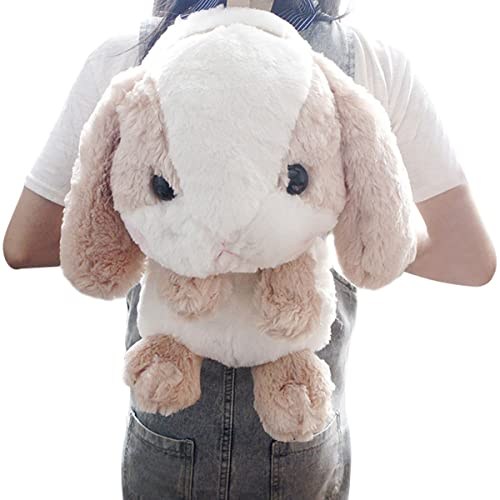 TOLLION Plush Stuffed Lop Bunny Doll Backpack With Adjustable Shoulder Strap