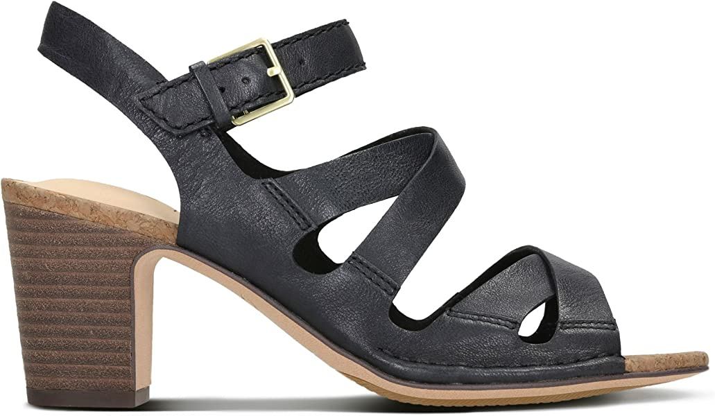 5a6ff3561ab Clarks Spiced Ava Leather Sandals in Black Standard Fit Size 3½ ...